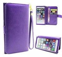 Draagriem Card Wallet Touchscreen Mobiele Telefoon Lederen Case Zakken Voor Galaxy A7 (2017)/C5 Pro, VKworld G1 Giant, Vernee Mars/