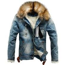 Drop Verzending 2020 Nieuwe Mannen Jeans Jas En Jassen Denim Dikke Warme Winter Uitloper S 4XL LBZ21