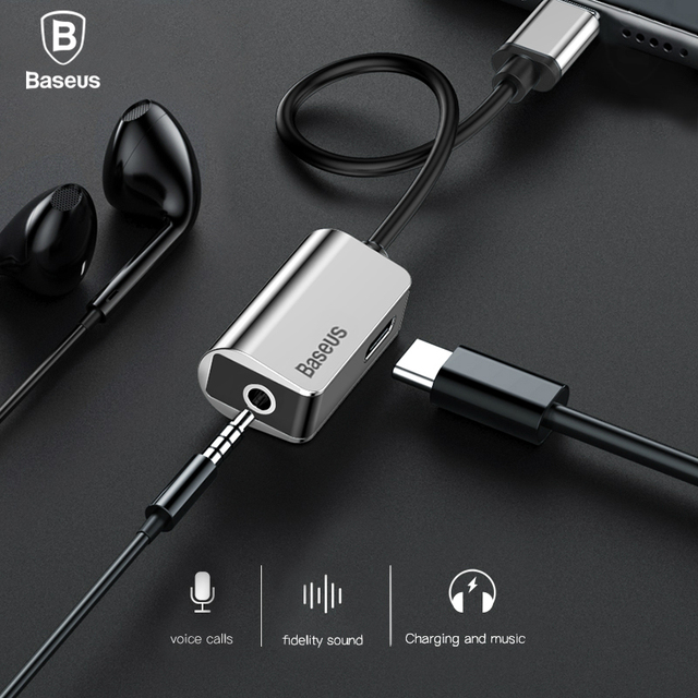 Baseus Usb C Adapter Type C To 3 5mm Jack Earphone Cable