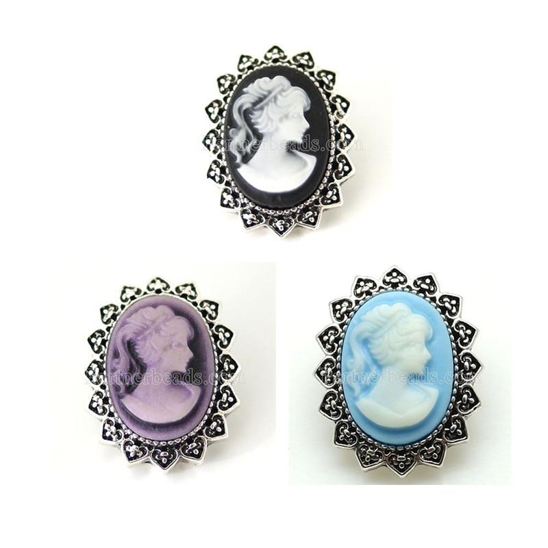 10pcs/lot Wholesale Partnerbeads 18mm Interchangeable Jewelry Pumpkin Crystal Button Snap Jewelry Free Shipping KB8058