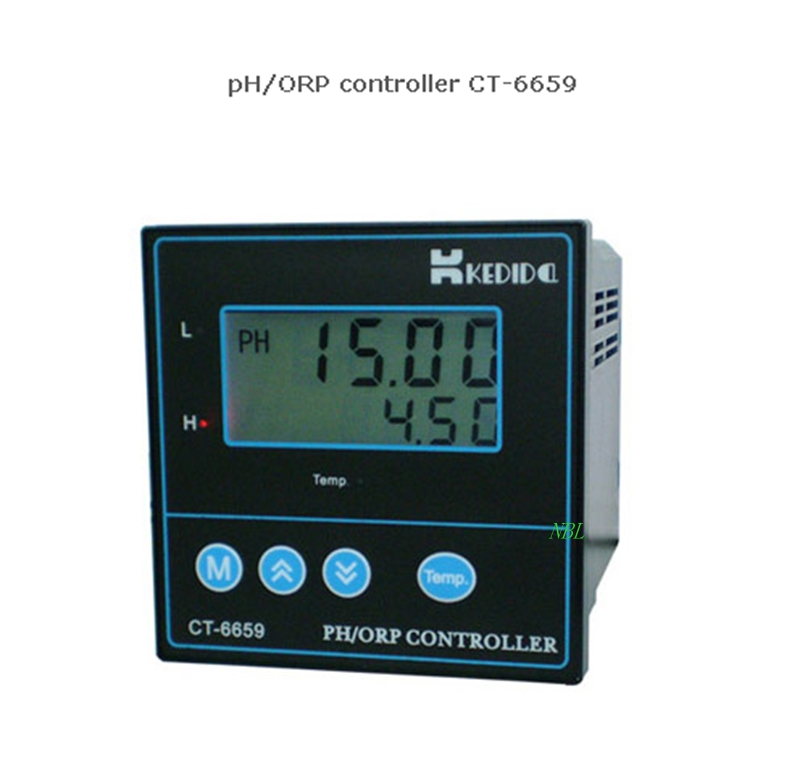 Professinal PH ORP Controller Digital LCD Oxidation Redox Potential Meter pH Value Measure Analyzer With ATC 4-20mA Output