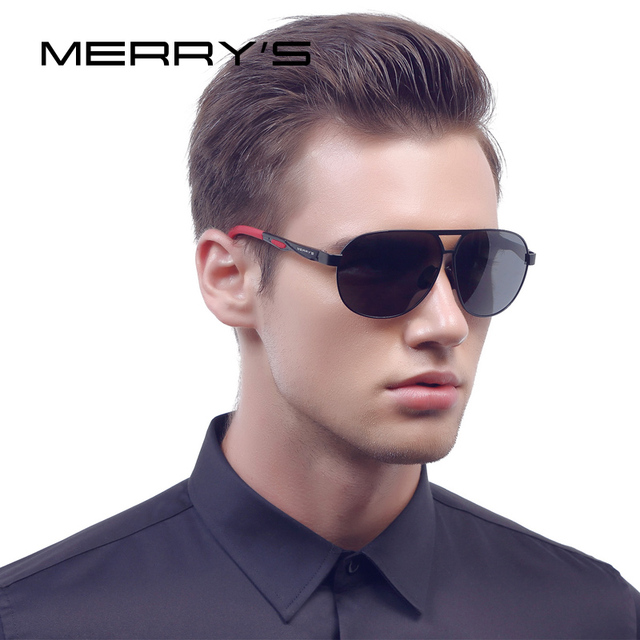 41075fa78b MERRY S Men Classic Brand Sunglasses HD Polarized Aluminum Sun glasses EMI  Defending Coating Lens Driving Shades