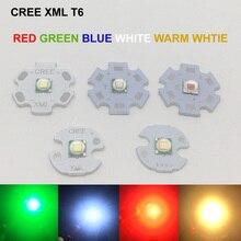 1 шт. CREE XML XM-L T6 светодиодный U2 10 Вт Холодный белый Теплый белый синий красный зеленый УФ светодиодный излучатель диод с 12 мм 14 мм 16 мм 20 мм PCB для DIY