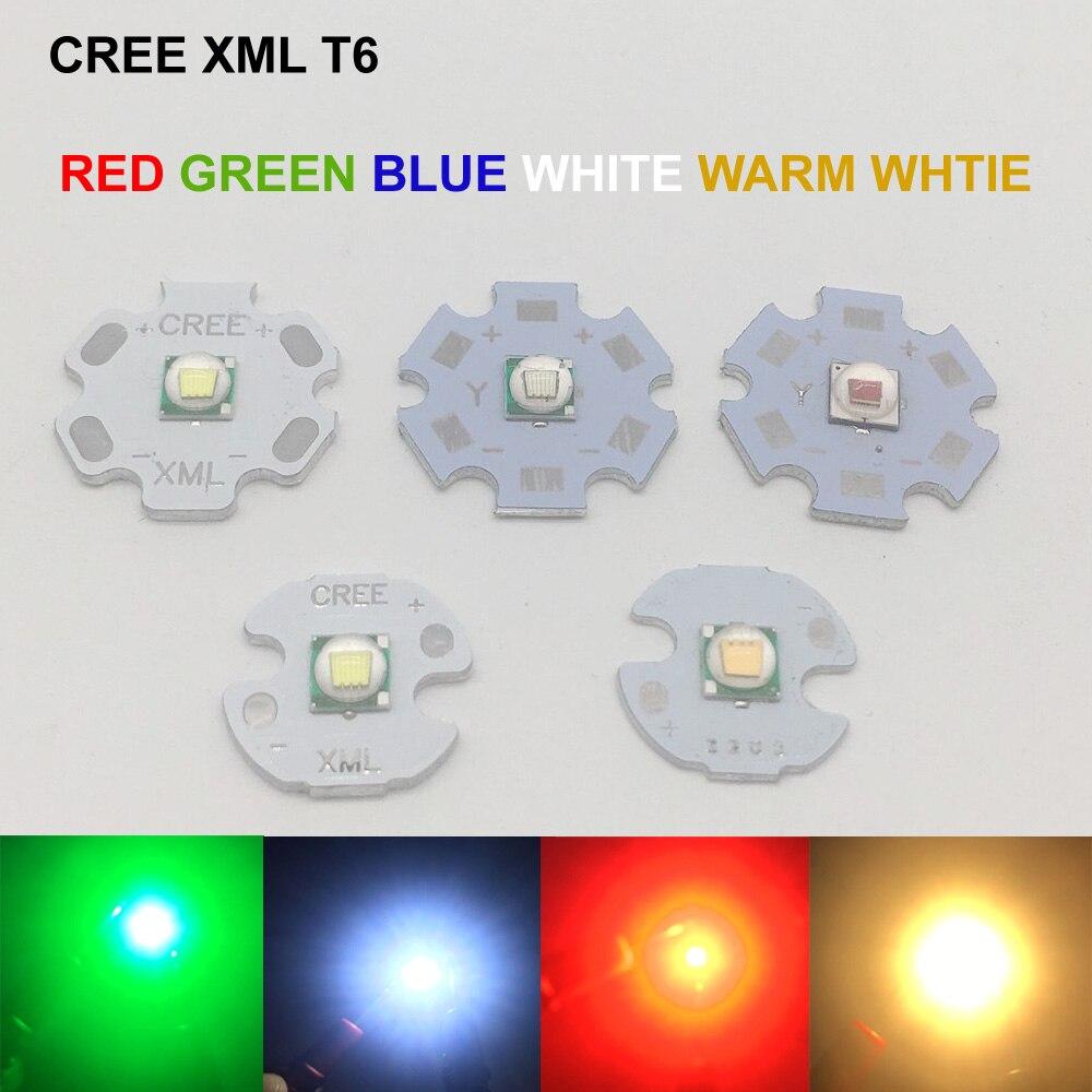 1PCS Cree XML T6 White Color 10W LED Emitter Bead Mounted On 20mm PCB Flashlight