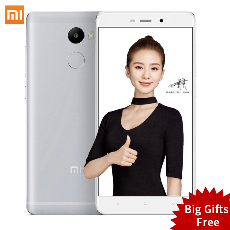 Original Xiaomi Redmi 4 2GB RAM 16GB ROM Snapdragon 430 red rice 4 5 0 Inch