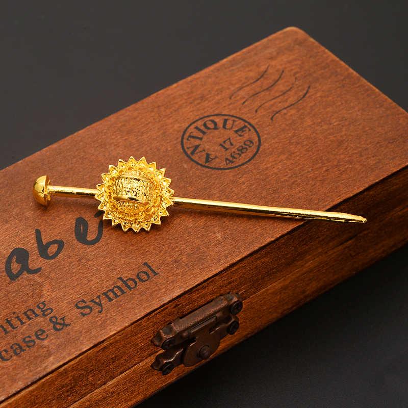 الذهب اللون الاثيوبية دبوس المجوهرات الشعر كومز أفريقيا إثيوبيا الشعر دبوس/إريتريا/كينيا/الشعر العصي/habasha الفتيات diy سحر