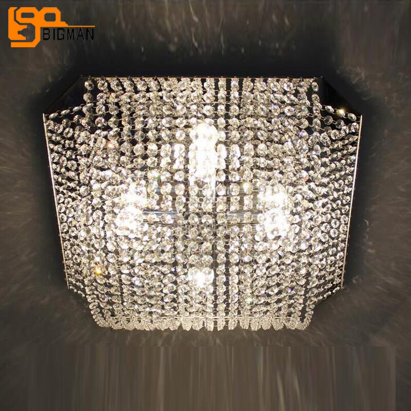 new modern bedroom crystal ceiling lamps length 50cm lustre LED light fixtures