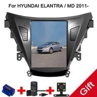 10.4 Tesla Type Android 7.1/6.0 Fit HYUNDAI ELANTRA / MD 2011 2012 2013 Car DVD Player Navigation GPS Radio