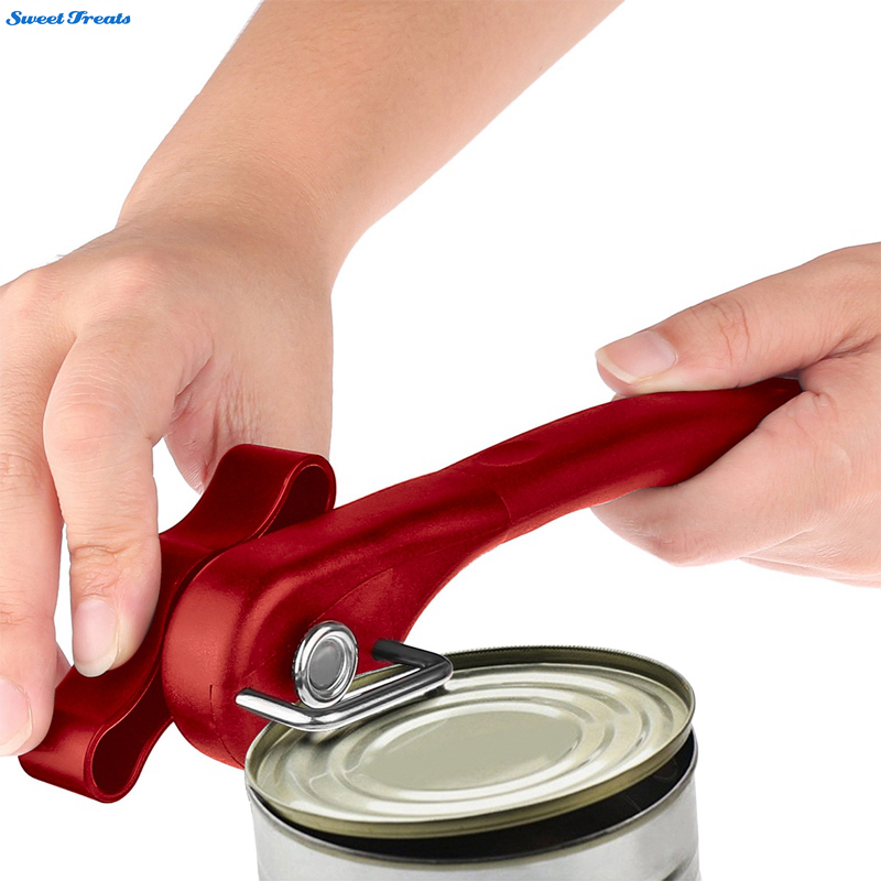 Sweettreats Household kitchen Tools Easy Manual Metal Can Opener Professional Effortless Stainless Steel Openers with Turn Knob