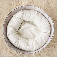 4 PCS Set Baby Photography Costume Wheat Donut Posing Props Baby Pillows Ring Newborn Photography Props