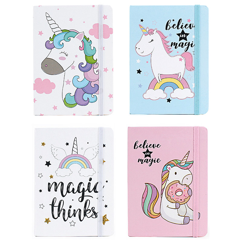 Cute Kawaii Unicorn Printing Notebook Cartoon Diary Planner Notepad For Kids Gift Korean Student Office School Stationery