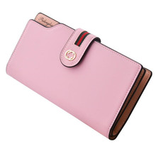 2017 Luxury Woman PU Leather Mobile Phone Wallet Candy Color Women Credit Card Holder Womens Wallets And Purses For iphone 6S