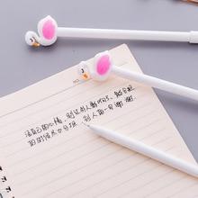 Jonvon Satone 30 Pcs Cute Flamingo Gel Pen Beautiful Kawaii Stationery Pens Canetas Material Office School Supplies Writing Tool недорого