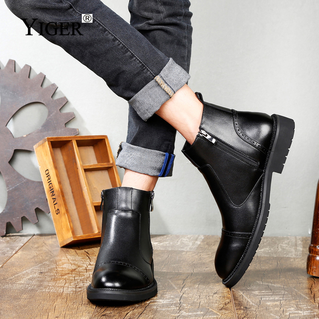 Ankle Boots Man Martin Shoes 3