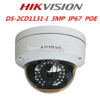 New Arrival HIKvision English Model 3MP CMOS Network Dome Camera DS 2CD1131 I Fixed Lens IP