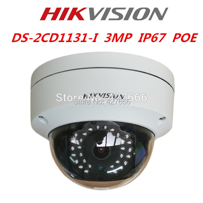 New Arrival HIKvision English Model 3MP CMOS Network Dome Camera DS-2CD1131-I Fixed Lens IP Camera Replace DS-2CD2135F-IS free shipping in stock new arrival english version ds 2cd2142fwd iws 4mp wdr fixed dome with wifi network camera
