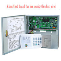 Free Shipping SAFEARMED 8 Zones Wired Control Pane home security Alarm host wired