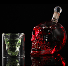 Transparent Cocktails Beer Wine Bottle Glass Champagne Fruit Juice Crystal Skull Head Shot Glass Party Drinkware Cup Bottles цена в Москве и Питере