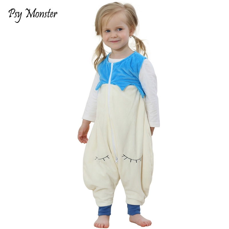 791441d30a6d9 Baby Boys Girls Sleepwear Robes Autumn Children Sleeveless Rompers Flannel  Animal Jumpsuits Pajamas night gown kids Sleepers