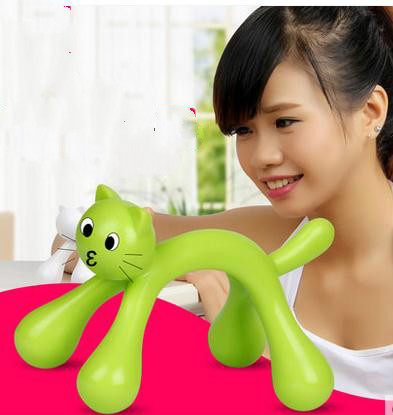 new portable vertebral body massager holiday gift lovely cat massager multi-function, office require