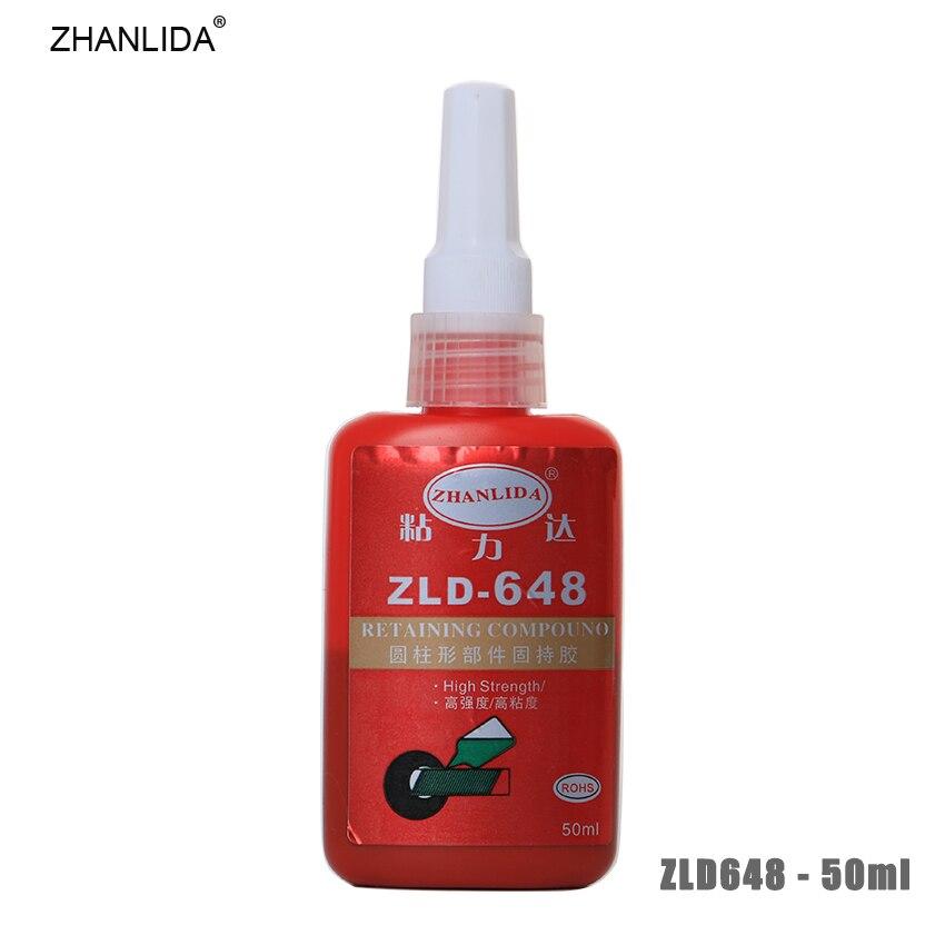 ZHANLIDA 648 50ML Cylindrical Retainer Locking Adhesive Metal Screw Anaerobic Adhesive Thermal Strength Environment Glue