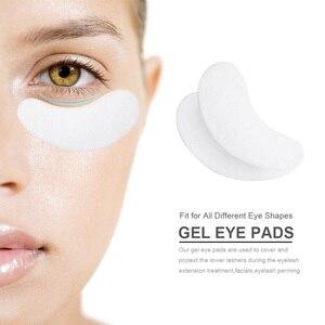 Image 5 - 10/20/50 Pairs Eyelash Pad Gel Patch Grafting Eyelashes Under Eye Patches For Eyelash Extension Paper Sticker Wraps Makeup Tools