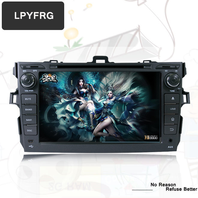 Excellent 4G+32G for Toyota corolla 2007 2008 2009 2010 2011 car dvd gps navigation android 9.0 car console car radio player car HD stereo 5