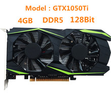 Model Building Accessories GTX1050Ti 128Bit PCI-E 4GB DDR5 HDMI Discrete Graphics Desktop Gaming Video Card(China)