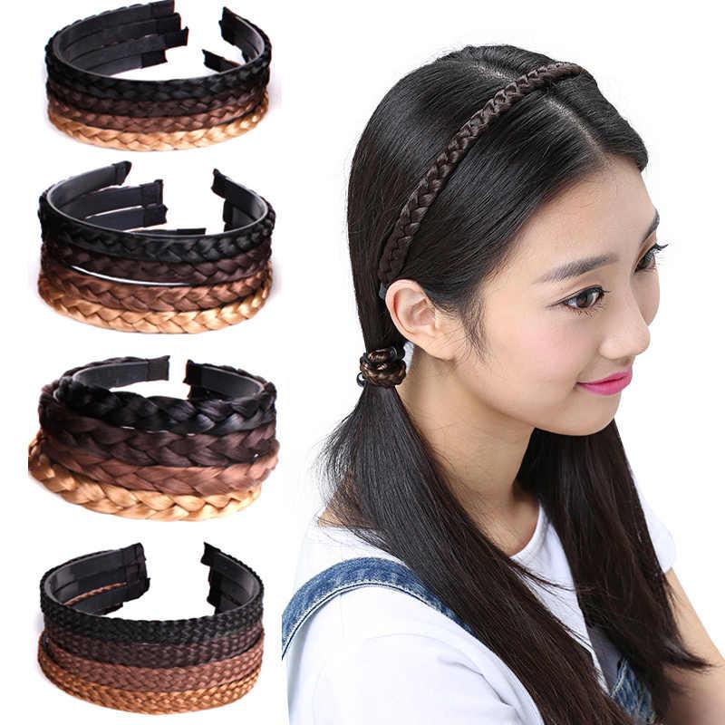 Девочки 1 шт. распродажа головной убор творческие волосы парик аксессуары Корейская повязка на голову аксессуары для волос женские косы