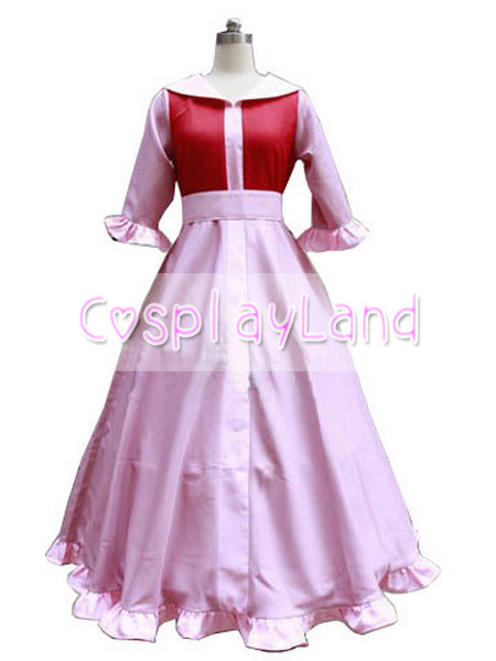 Belle Pink Dress Costume Beauty and the Beast Cosplay Princess Belle Cosplay Costume Party Dress Custom Made Halloween Costume