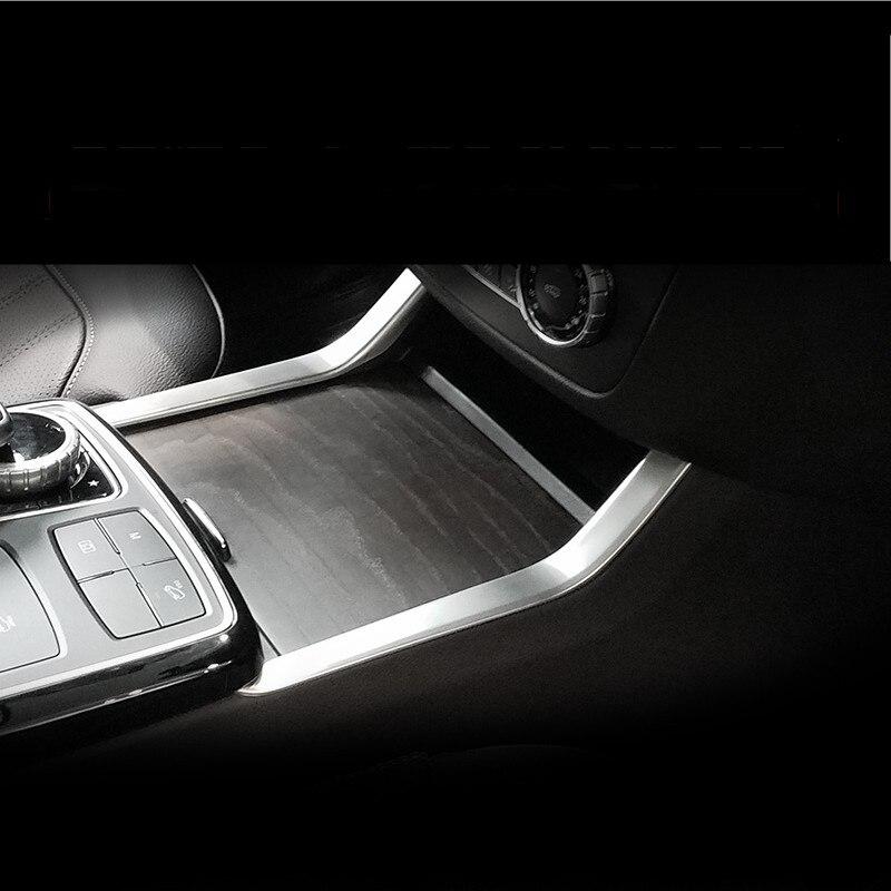 For Mercedes Benz GLE ML W166 GL X166 GLS Car Styling Console Panel cover Centrol Panel Sticker Auto Interior Trim Accessories car seat cover automobiles accessories for benz mercedes c180 c200 gl x164 ml w164 ml320 w163 w110 w114 w115 w124 t124