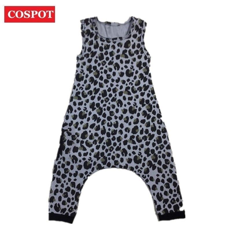 COSPOT Baby Summer Harem Rompers Boys Girls Summer Cotton Leopard Jumpsuit Kids Fashion Playsuits Children Jumper 2018 New D37
