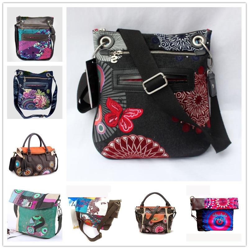 Nuevo llegan mujeres desiguers bolsa bordado de las mujeres hombro messenger bolsas estilo Europa mujer bolsos de cuero bolsos De mujer