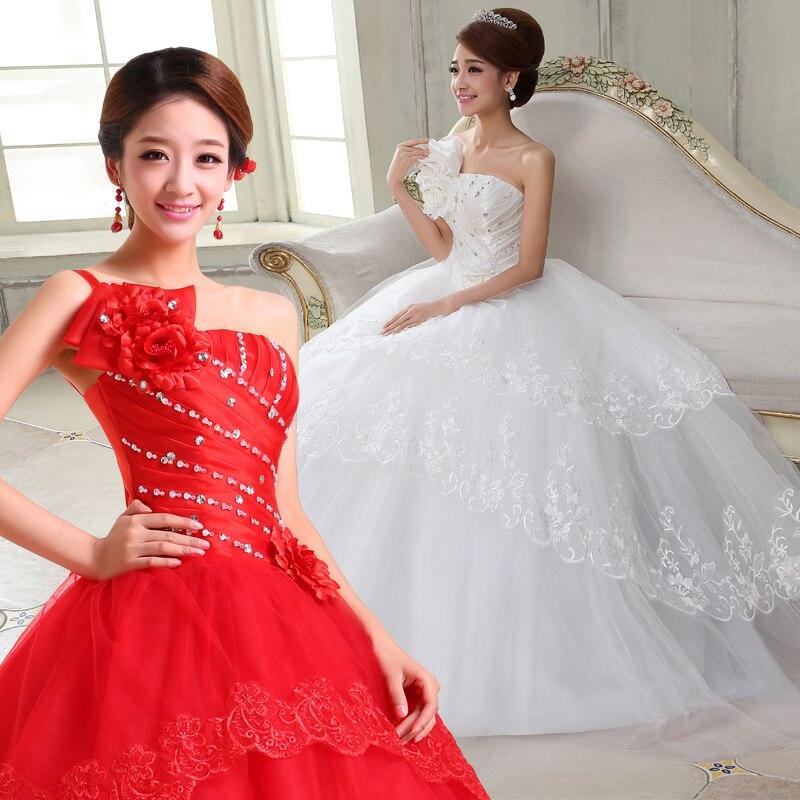 2017 New Stock Plus Size Women Pregnant Bridal Gown Wedding Dress Ball Gown Red White Satin Diamond Sexy Bling Korea Cheap 237 Pregnant Bridal Gowns Bridal Gowngown Wedding Aliexpress