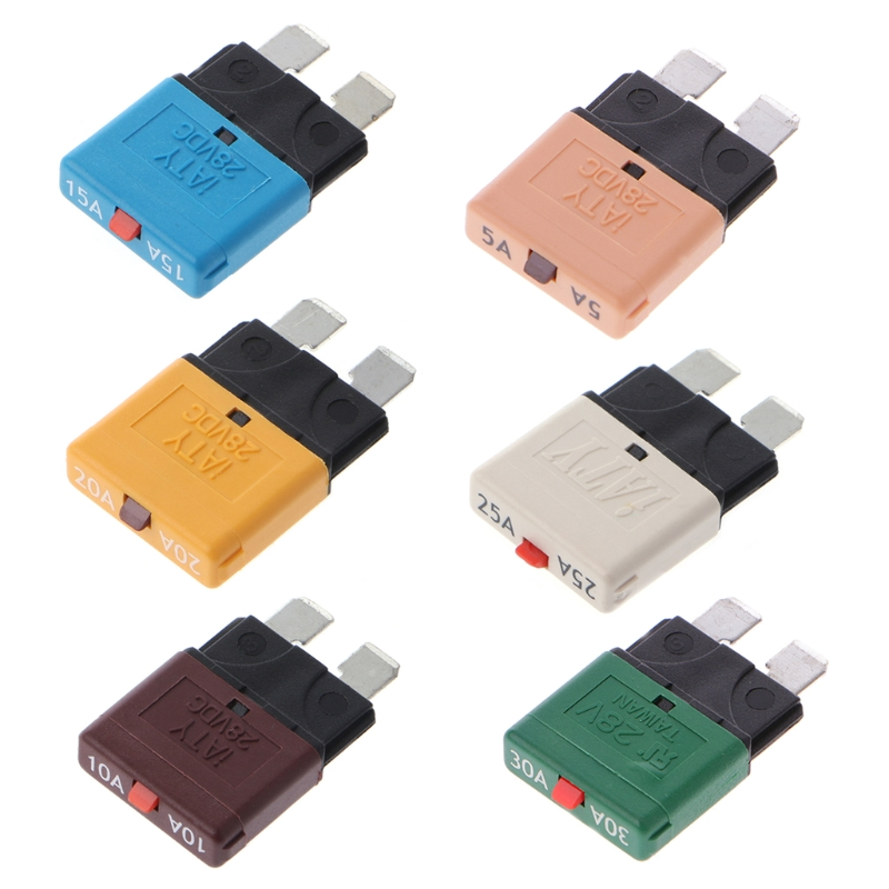 New High Quality Circuit Breaker Blade Fuse 28v Resettable 5 30a Marine Rally Automotive