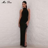 2017 new HOT A/W Incroyable côté de split Style Piste Rouge balck Tapis Mode Party Celebrity Maxi Longue Bandage robe en gros