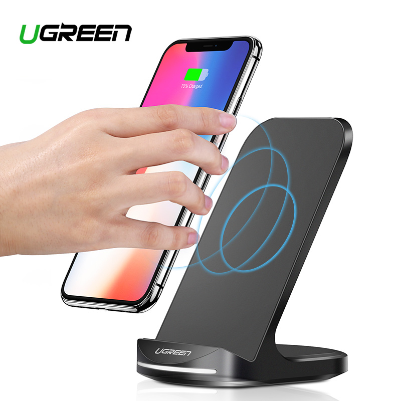 Ugreen Qi Wireless Charger for iPhone X XS 8 XR Samsung S9 S10 S8 Fast Wireless Charging Dock Station Phone Charger for Xiaomi