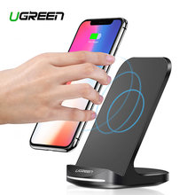 Ugreen Qi Wireless Charger Stand for iPhone X XS 8 XR Samsung S9 S10 S8 S10E Fast Wireless Charging Station Phone Charger(China)