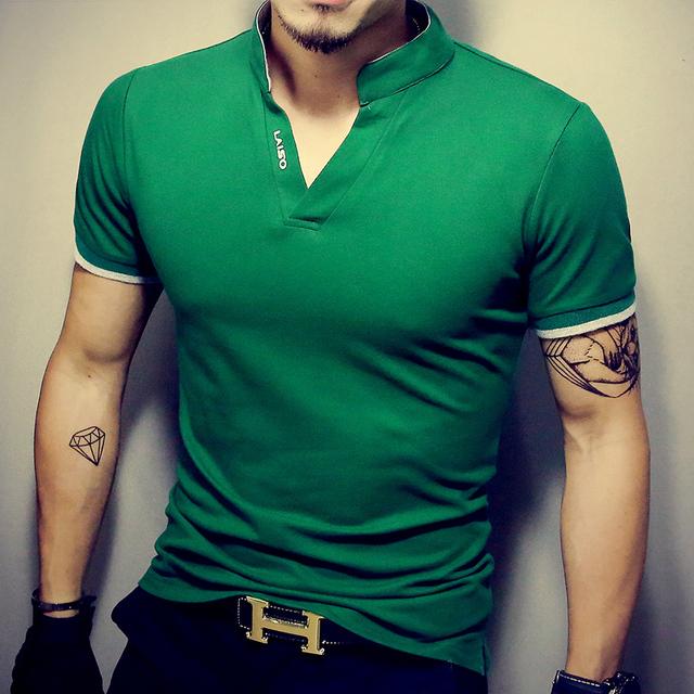 Men's T Shirt Casual Patchwork Short Sleeve Slim Fit Hip-Hop