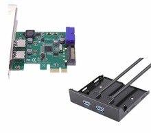 4 Порта USB 3.0 PCIE PCI Express ПЛАТЫ Управления Адаптер + 20pin к 2 4-портовый концентратор usb 3.5 Floppy bay Передняя Панель NEC chipset