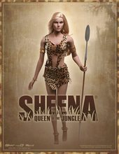 1/6 Super flexible figure sexy female Queen Of The Jungle-Sheena seamless body with metal skeleton  12″ action figure doll