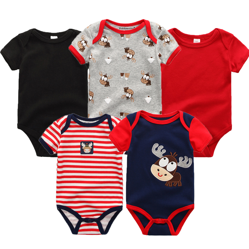 5PCS/Set Newborn Unisex Baby Rompers Boy Playsuit Clothes  Striped Roupas de bebe Jumpsuit  Infant Body Romper Clothing 0-12M 2017 summer baby rompers tuxedo shortall jumpsuit bebe clothing two piece set vest bowtie baby braces rompers kid clothes