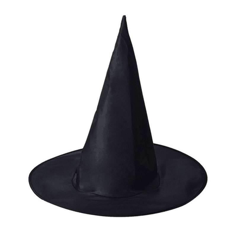 Halloween Party Hat Props Home Wider Reliable Adult Womens Black Witch Hat For Halloween Costume Accessory