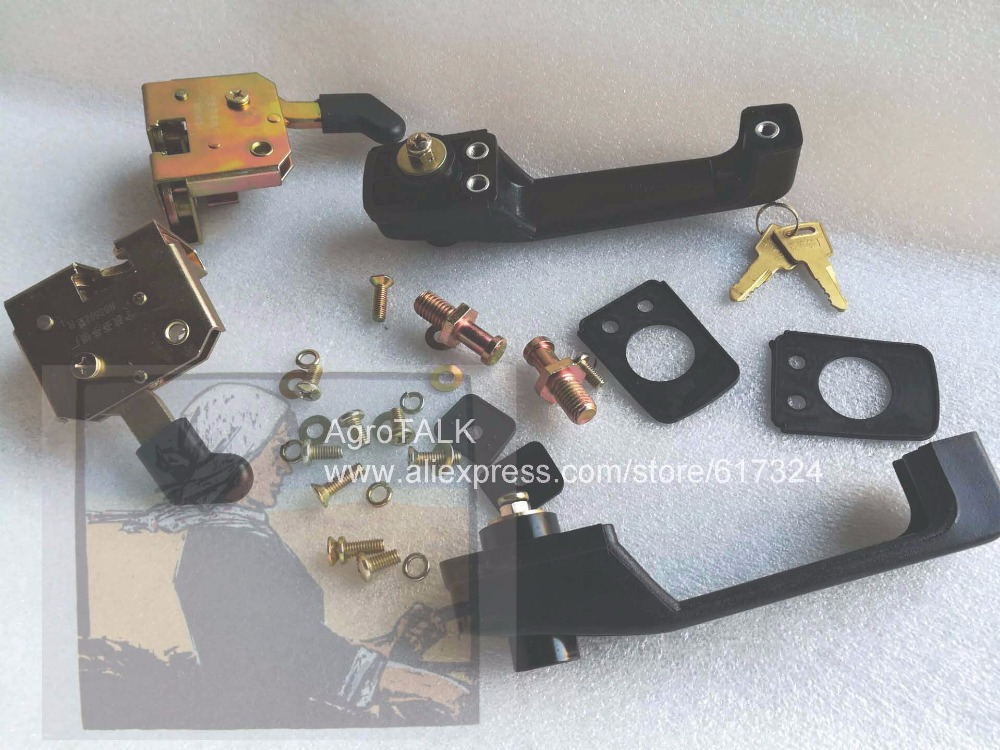 China YTO tractor with cabinet, the set of door locks, part number: NBS502, please check the shape when make the order changchai zn490t for tractor use the set of piston group part number