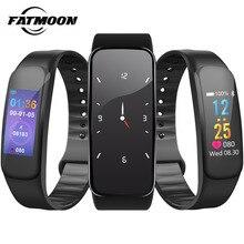"""FATMOON C1 Pulseira Inteligente 0.96 """"Tela OLED Touchpad Sangue Monitor de Freqüência Cardíaca À Prova D' Água Esporte Inteligente Pulseira para Mulheres Dos Homens"""