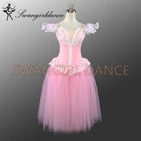 Free Shipping Adult Ballet Long TUTU Pink Ballet Stage Costumes Ballet Classical Dresses Girls Ballet Skirt