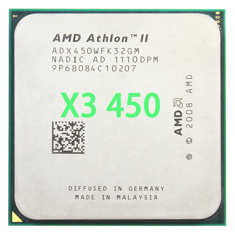 AMD Athlon II X3 <font><b>450</b></font> 3.2GHz Triple-Core CPU Processor ADX450WFK32GM Socket AM3 938pin image