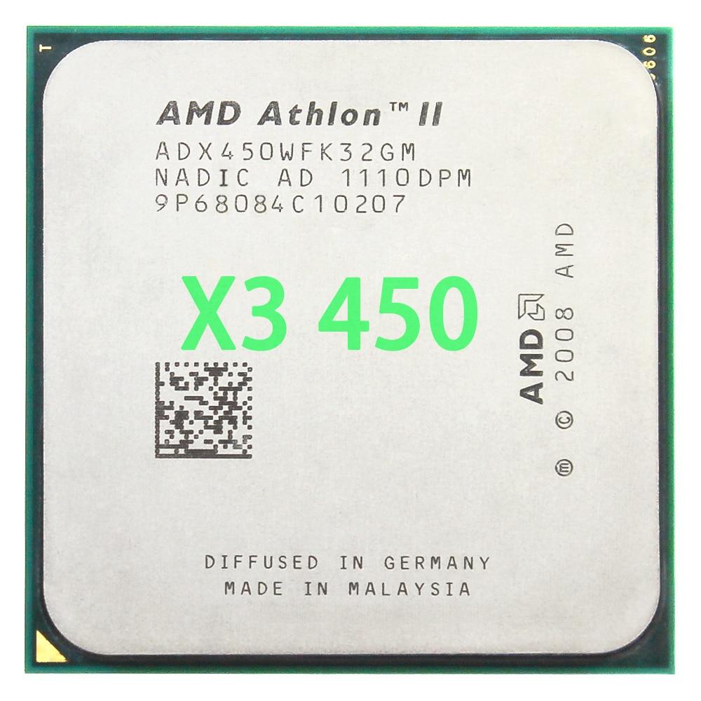AMD Athlon II X3 450 3.2GHz Triple-Core Processador CPU Soquete ADX450WFK32GM AM3 938pin