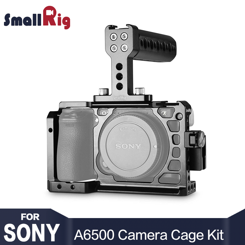 SmallRig Dslr Camera Rig Cage Accessory Kit for Sony A6500 with a Cage and a Top Handle and a HDMI Cable Clamp - 1968