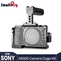 SmallRig Dslr Camera Rig Cage Accessory Kit for Sony A6500 with a Cage and a Top Handle and a HDMI Cable Clamp 1968